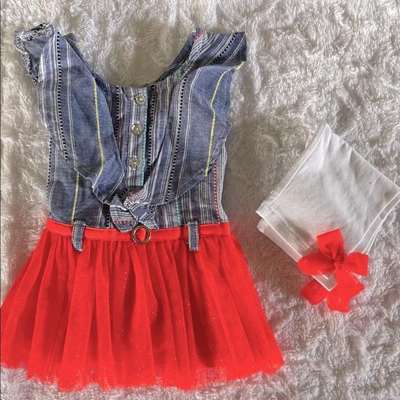 Little Lass Girls 2 piece pants set 18 months